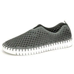 ILSE JACOBSEN WOMEN'S TULIP COMFY SLIP-ON SNEAKER GREY