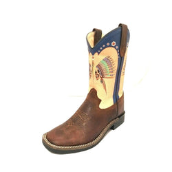 YOUTH KIDS POCONO WESTERN BOOTS SQUARE TOE 292-30Y-CTR