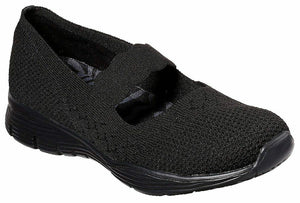 Skechers Womens Seager Power Hitter Shoes 49622 BBK