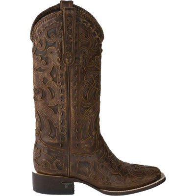 Lane Women's Robin Inlay Cowgirl Boot - Square Toe - LB0397A