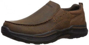 SKECHERS Men's Relaxed Fit: Expended-Seveno Comfort Loafer Shoes in Brown 66146