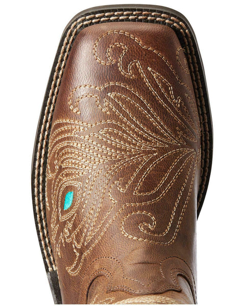Ariat Women's Bright Eyes II Western Boot - Wide Square Toe - 10033983