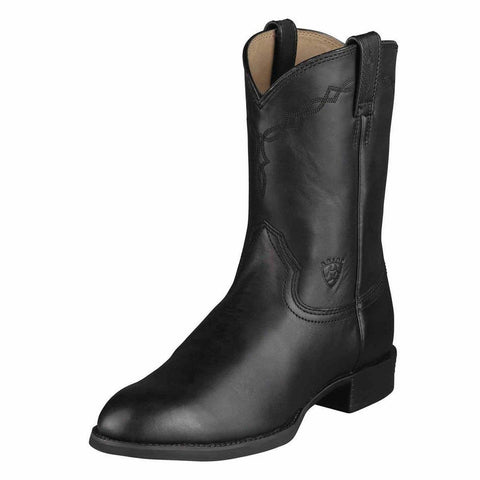 Ariat Mens Heritage Pull On Roper Cowboy Boot Black 10002280 35501
