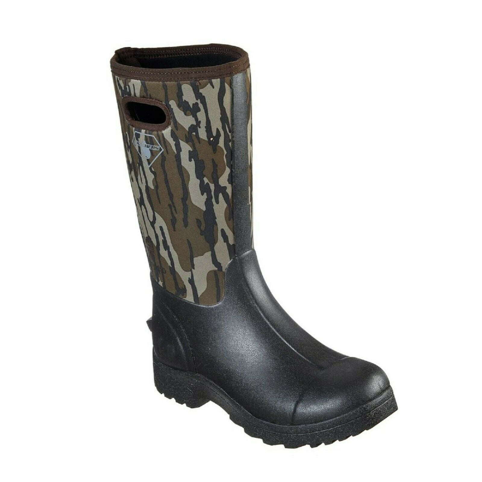 Mens Skechers WEIRTON 77543 CAMO Camo Slip-On Mid-Calf Work Boot Shoes