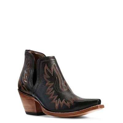 Ariat® Ladies Dixon Brooklyn Black Western Ankle Boots 10029653