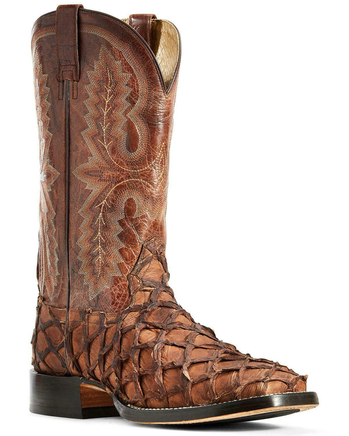Ariat Men's Deep Water Cafe Big Bass Adobe Tile Western Boot Wide Square Toe 10029609