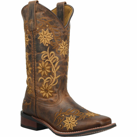 Laredo Ladies Brown Secert Garden Square Toe Boot 5822