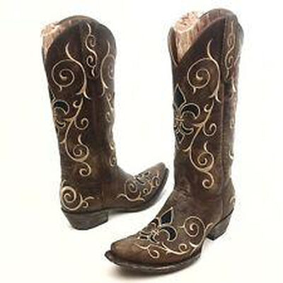 LADIES OLD GRINGO MIA STUD BRASS WESTERN BOOTS L1198-5