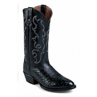 8090105L03 Nocona Black smooth Ostrich