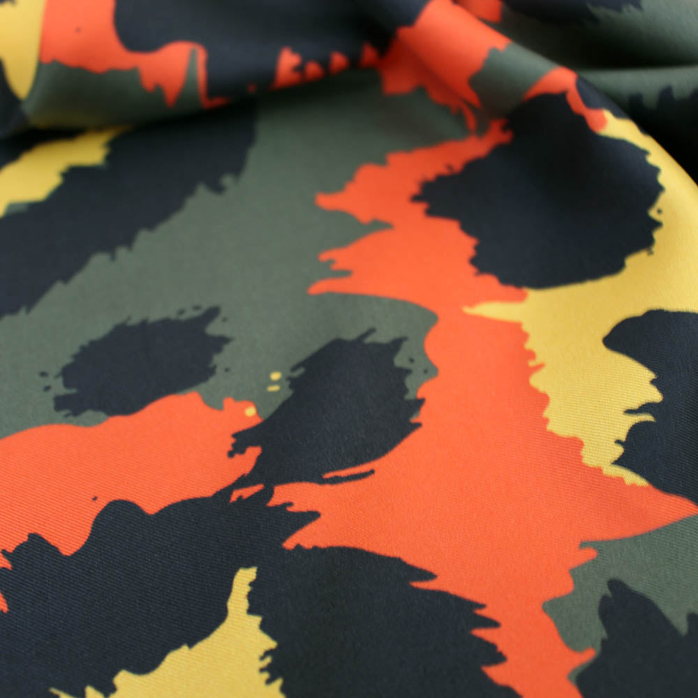 Jungle Leopard 100% Silk Twill Scarf