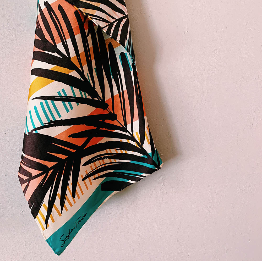 Chilled Summer 100% Silk Twill Scarf
