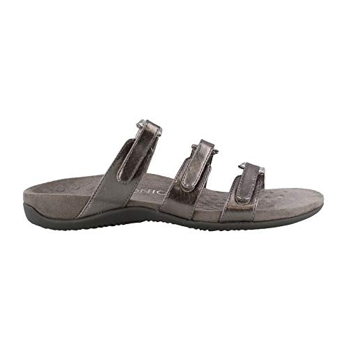Women's by Otha heel, Aubrey Slide Sandal - Pewter