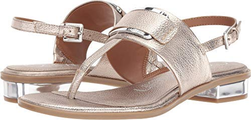 Women's Frieda Leather Open Toe Special- Soft Platinum