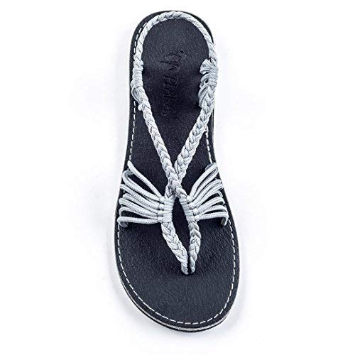 Plaka Flat Summer Sandals for Women Urban Gray  Seashell