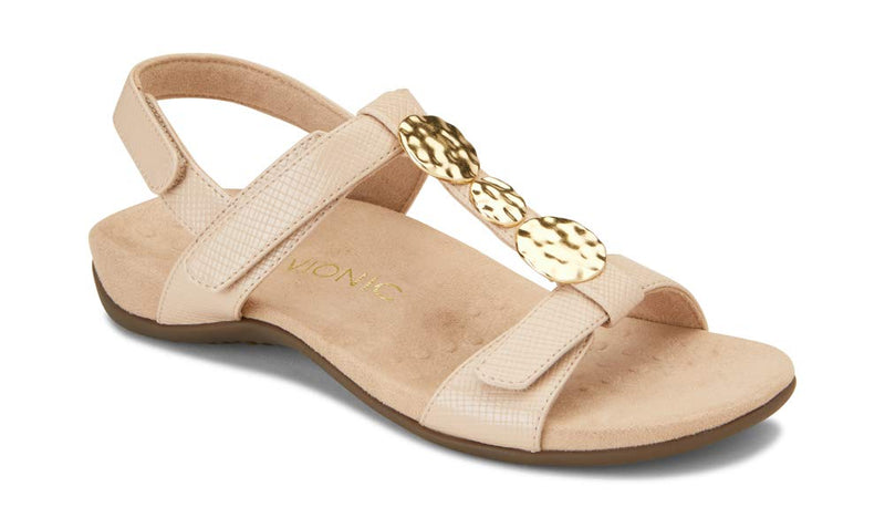 Women's Rest Farra Back strap Sandals- Nude Lizard