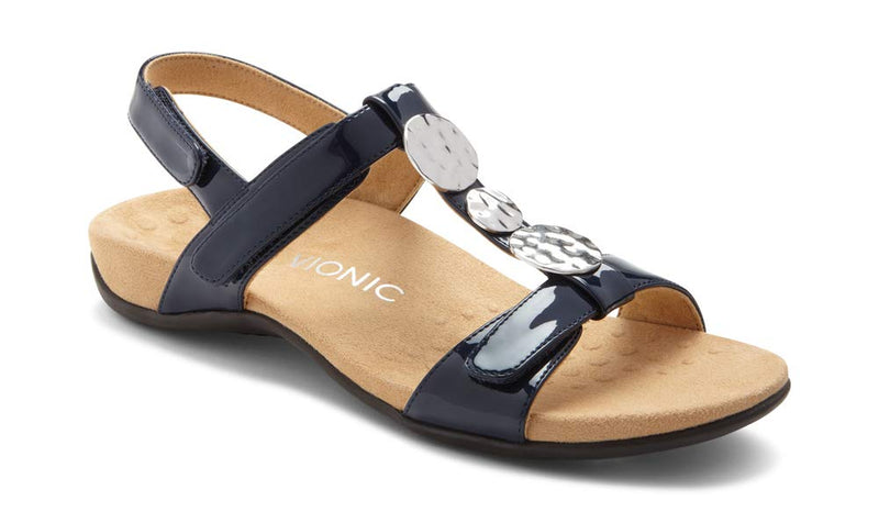 Women's Rest Farra Back Strap Sandals- Navy Patent