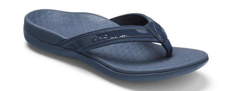 Women's Tide II Toe Post Sandal - Flip Flop with Concealed Orthotic Arch Support-  Navy