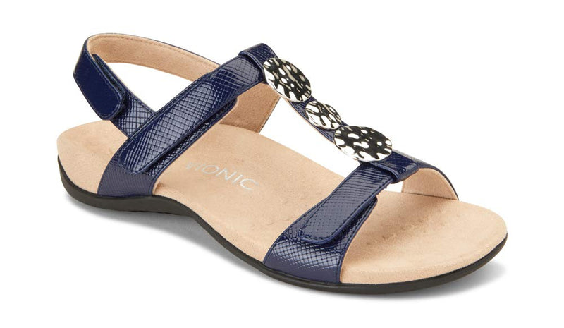 Women's Rest Farra Back-Strap Sandals- Navy Lizard