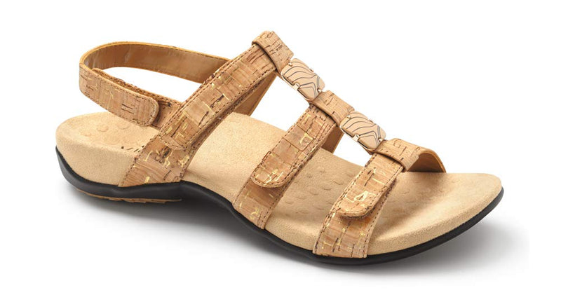 Women's Rest Amber Back Strap Sandals- Gold Cork
