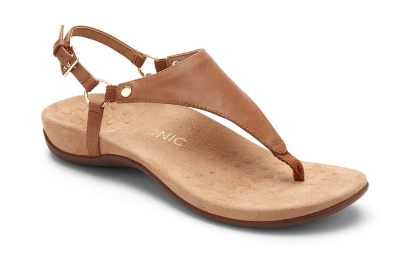 Women's Rest Kirra Back Strap- Sandals with Concealed Orthotic Arch Support -Brown