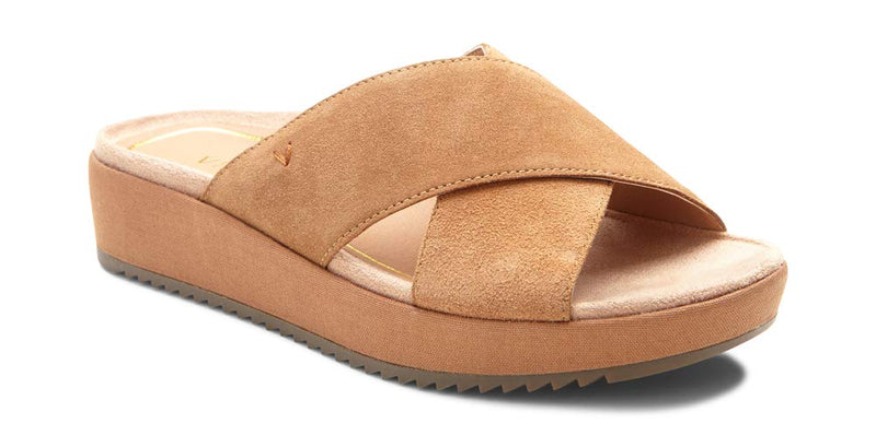 Women's Tropic Hayden Platform Sandal - Ladies Slide with Concealed Orthotic Arch Support- Toffee