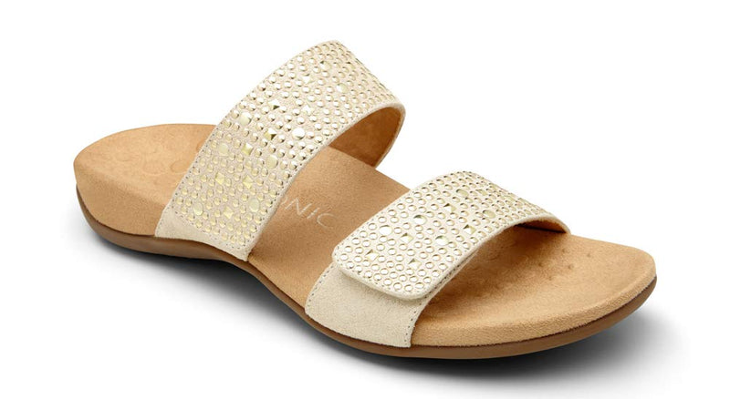 Women's Rest Samoa Slide Sandal- Gold