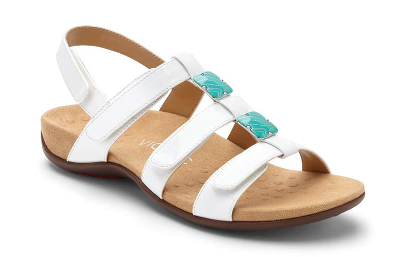 Women's Rest Amber Back Strap Sandals - White Patent