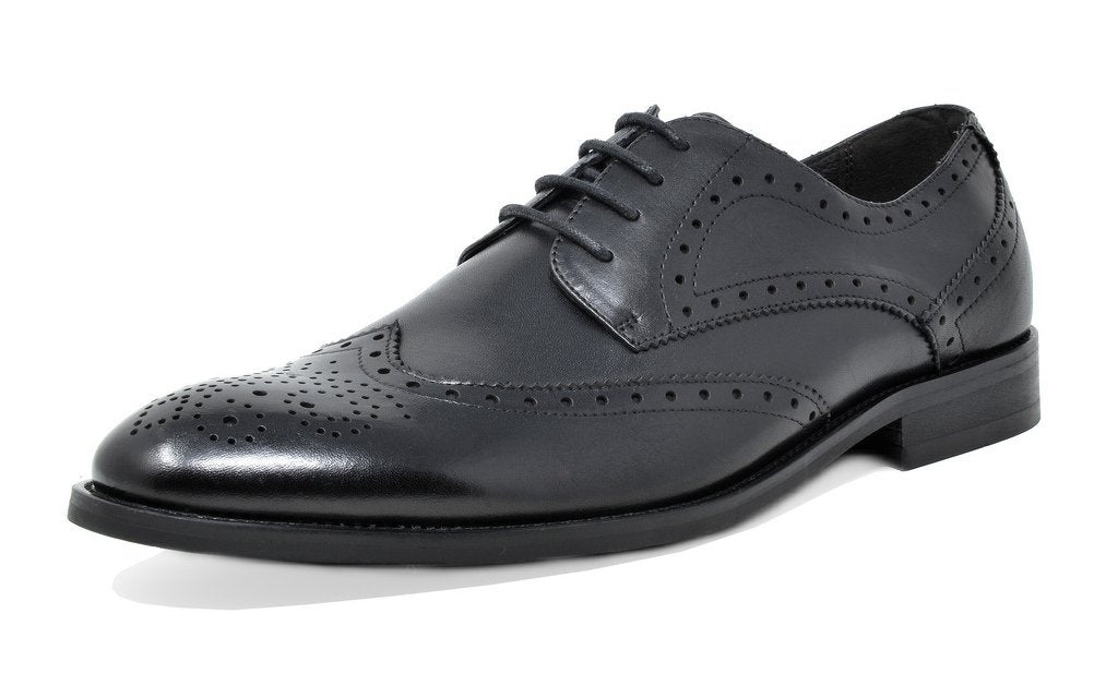 Men's Brown Dress Shoes Classic Oxfords - Waltz Black