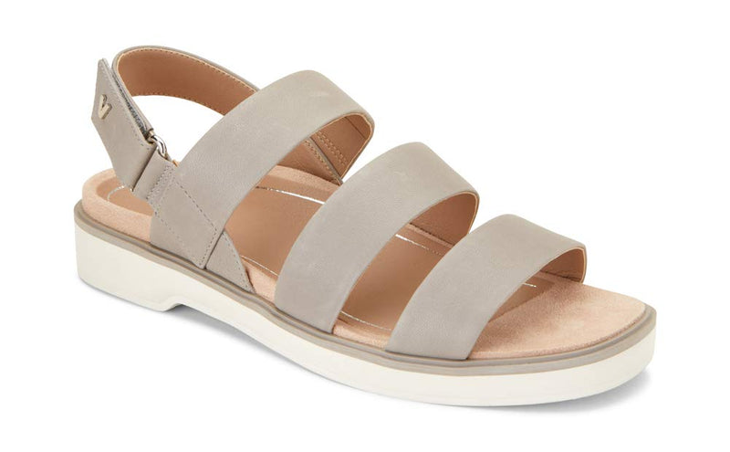 Women's Leila Keomi Backstrap Sandal - Concealed Orthotic Support Sandal- Light Grey
