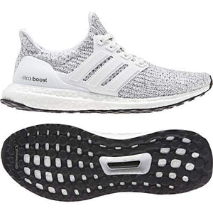 Women's Ultra-Boost Running Shoes- White/White/Neon-Dyed