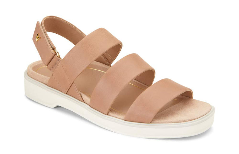Women's Leila Keomi Back Strap Sandal -Concealed Orthotic Support Sandal- Tan