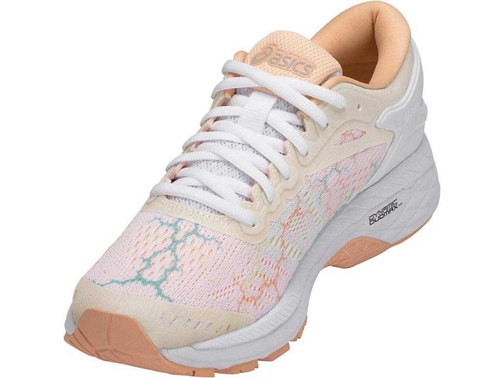Women's Gel-Kayano 24 Lite-Show Running Shoes-White/White/Apricot Ice