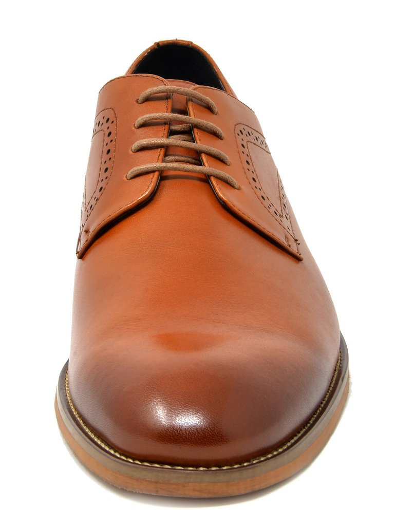 Men's Oxford Dress Lace Up Wingtip Shoes- Waltz Brown