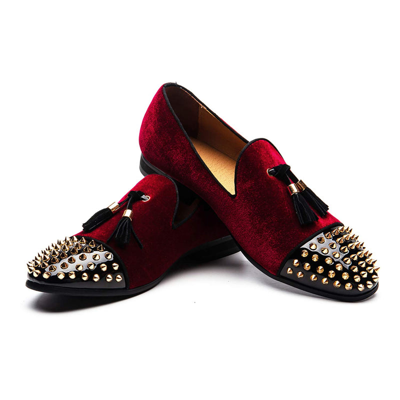 Men's-Penny-Slip-On-Leather-Lined-Luxury-Loafer-Red-02