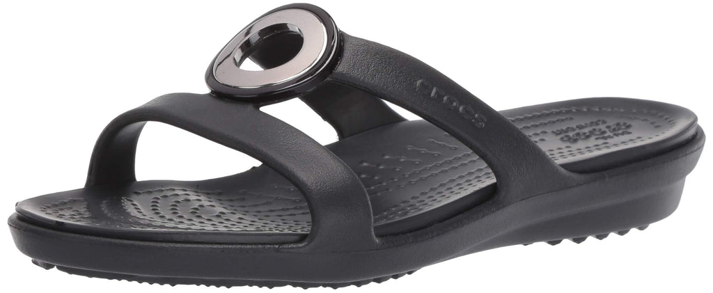 Metallic charm with a liquid or soft metal appearance Croslite foam construction makes them incredibly light Easy, versatile style Dual Crocs Comfort: Blissfully supportive. Soft. All-day comfort. Strap type is T-strap