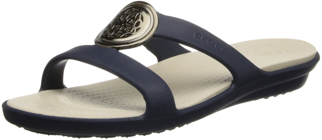 Crocs Women's Sanrah Circle Sandal Navy/Stucco