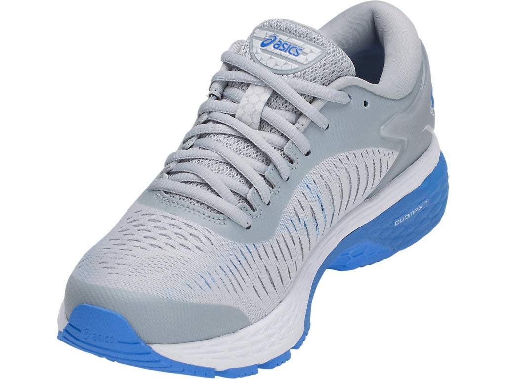 Women's Gel-Kayano 25 Running Shoes- Grey/Blue Coast