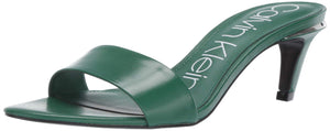 Women's Gallia Heeled Sandal- Green Kid Skin