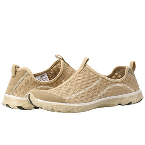Women's Mesh Slip On Water Shoes- Gold