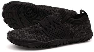 Men's Minimalist Trail Runner Shoes- Black Grey