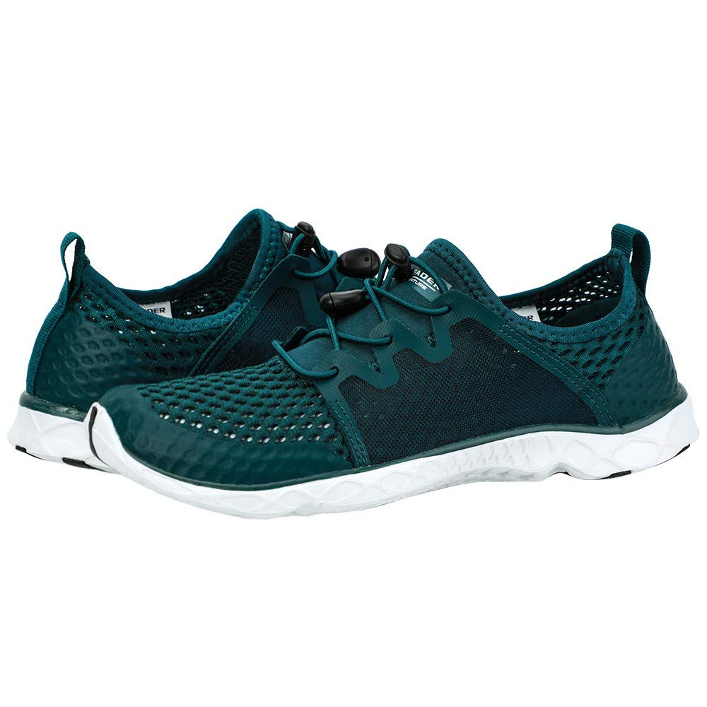 Women's Stylish Quick Drying Water Shoes- M.Green White