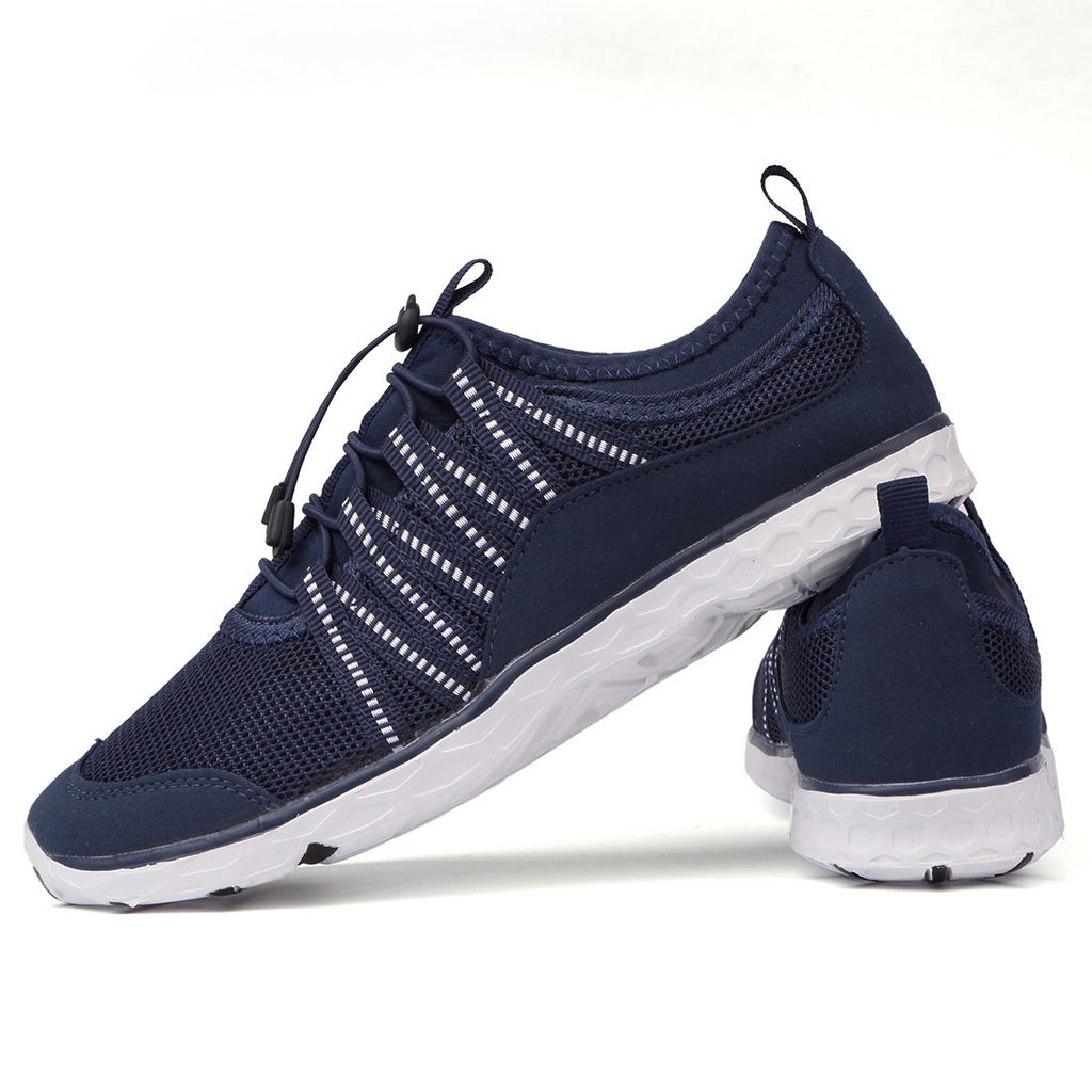Men's Lightweight Quick Dry Water Shoes- Navy White