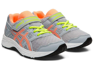 Kid's Gel-Contend 5 PS Running Shoes- Piedmont Grey/Sun Coral