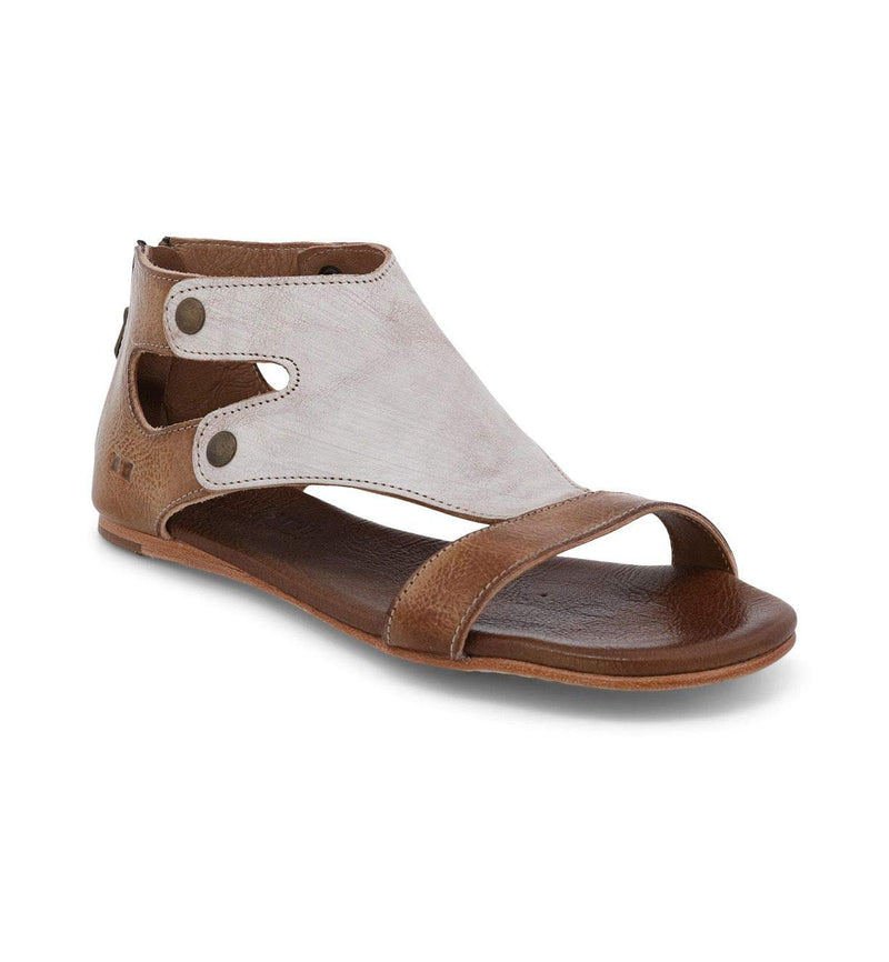 Bed|Stu Women's Soto Leather Flat Sandal- Nectar Lux Tan Rustic