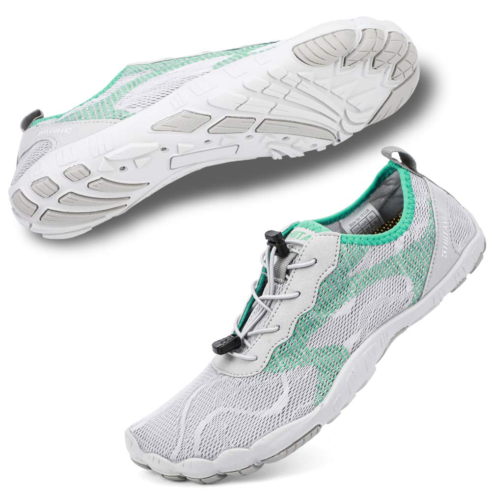 Women's Swimming, Surfing, Diving, Water Shoes- Light Gray Mint