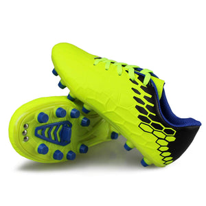 Kids Indoor-Outdoor Comfortable Soccer Shoes- Green