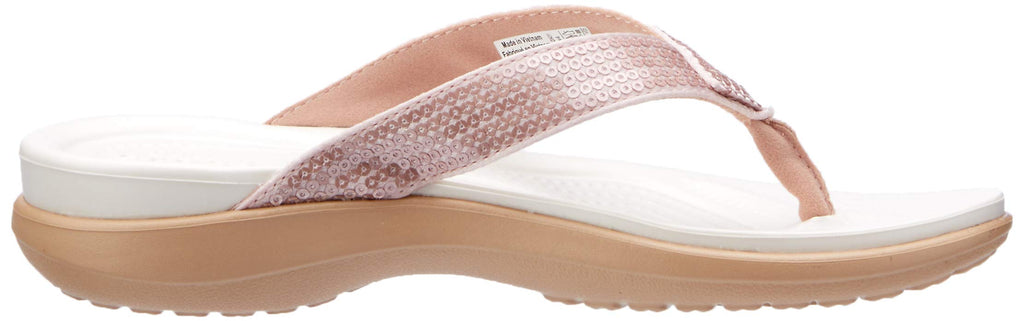 Crocs Women's Capri V Sequin W Flip-Flop, Rose Gold