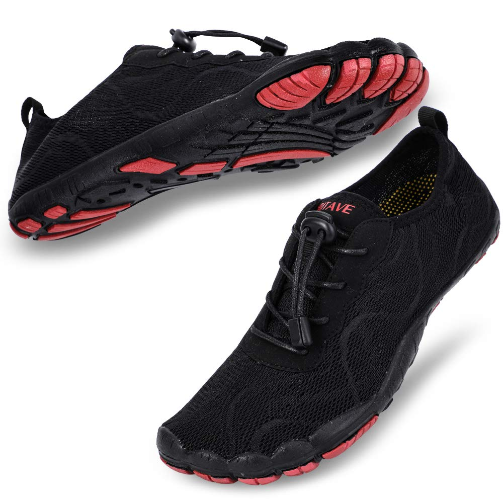 Women's Swimming, Surfing, Diving, Water Shoes- Black Red