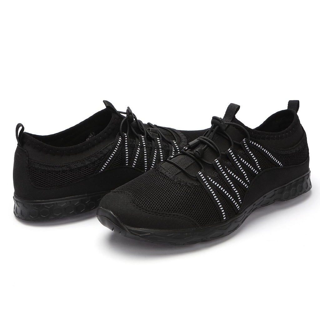 Men's Lightweight Quick Dry Water Shoes- All Black 2