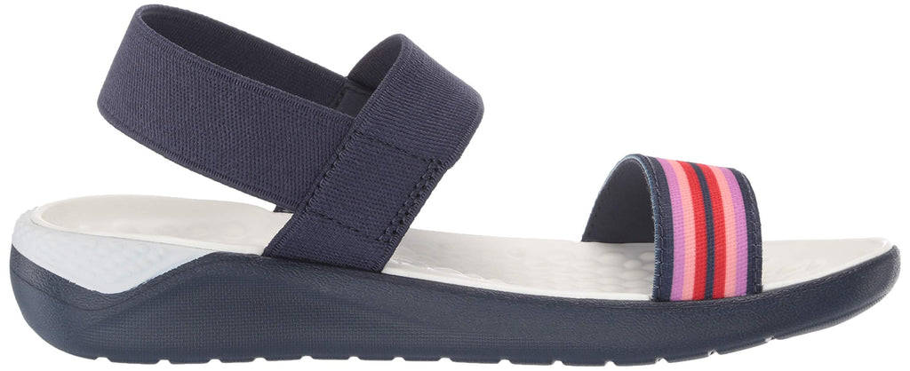 Crocs Women's LiteRide Sandal Flat Color Block/Navy